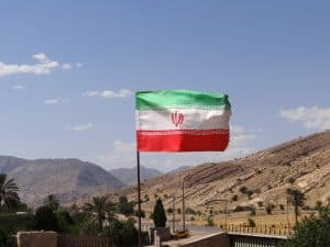 Intelligence assessment Iran flag on border
