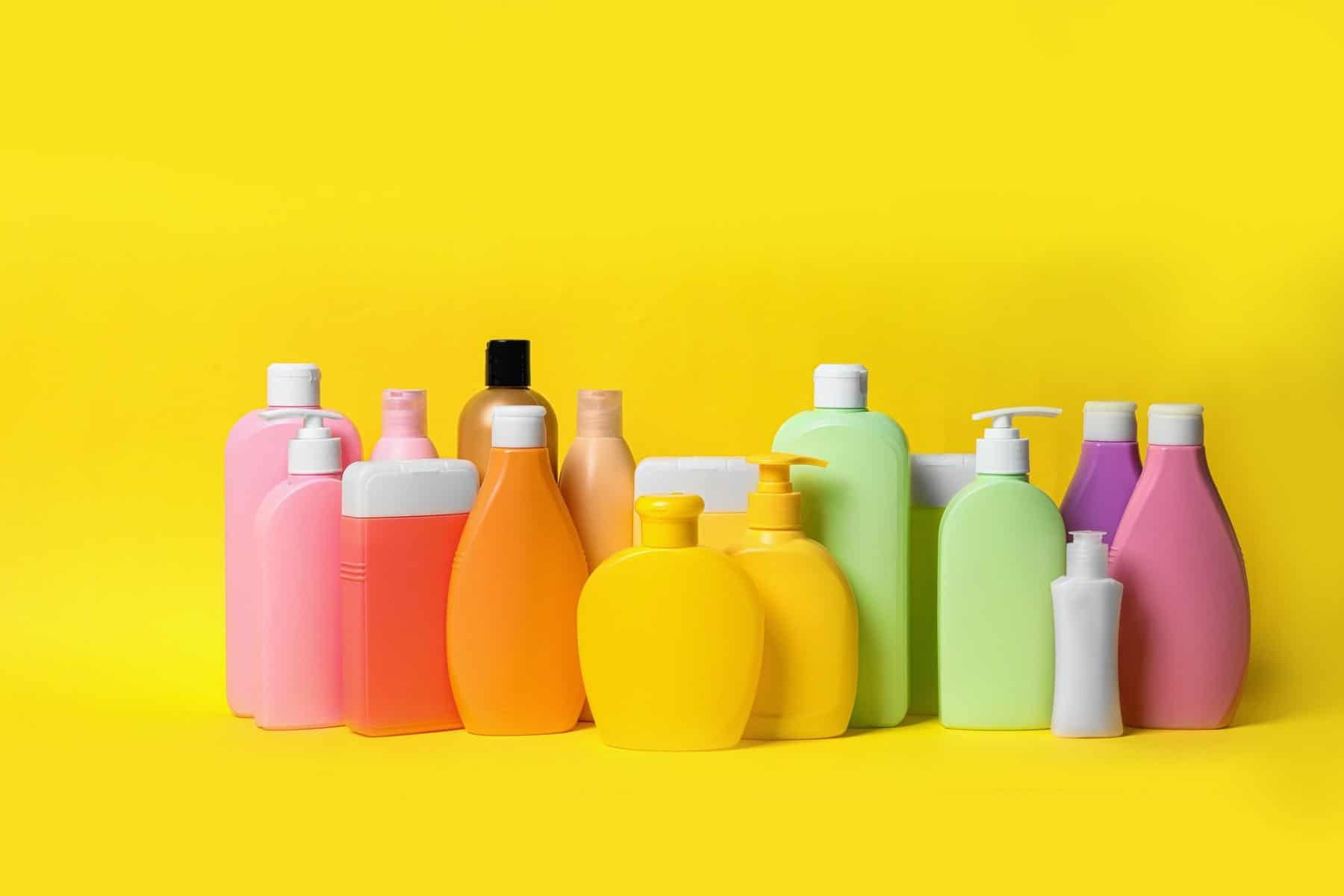 Price Different bottles of shampoo on yellow background. Natural cosmetic products showing different competitor prices or an article by Octopus Intelligence. We isolate your problems, reduce risk and uncertainty and deliver intelligence-led answers and innovative solutions. Dedicated to help you win.